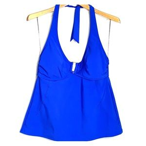 NWTs LANDS END • Blue Swim Tankini Halter Top